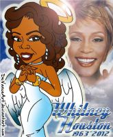 Whitney Houston Queen of Pop by DeVanceArt