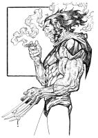 wolverine-sketch by johnsonverse