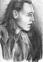 Loki pencil drawing. by BowieKelly