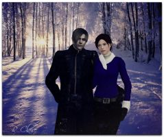 Resident Evil - Leon and Claire by IrinessaS