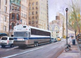The Bus in NYC by Wulff-Arts