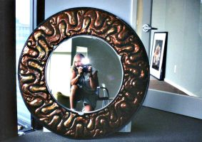 Copper Repousse Mirror Frame by ou8nrtist2