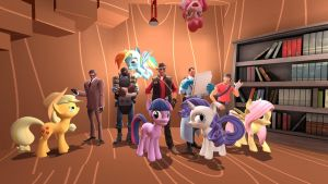 gmod - Bronies and friends by Stormbadger