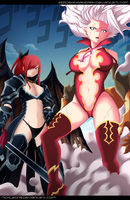 Erza and Mirajane - Collab by NickLeon5