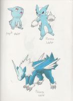 Fakemon- Water Starters by dragonkitteh