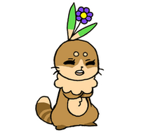 Flower bunny is laughing by O-koh