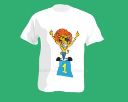 T-shirt with the image of lion by zolotaya27