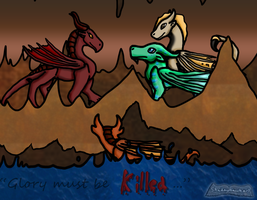 Wings of Fire: Overheard by ShadowhawkArt