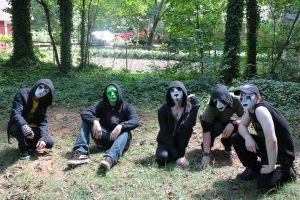 Our Dying Ways whole group with stagefright by zombis-cannibal