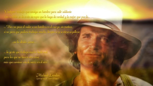 Michael Landon - Spanish quote wallpaper by lmd1984