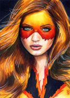 Firestar Sketch Card 5 by veripwolf