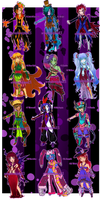 Monster Madness Set [CLOSED!] by SeraphEnigma23