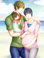 .:MakoHaru Mpreg: My family:. by kiba-kun1289