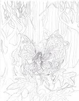 Fall Faery_ uncolored by Shadowind