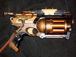 Steampunk Mini Gattling Gun by pennyfarthing1893