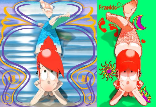 Frankie Pseudo Mermaid art-nouveau 03 by MikeLeRoi