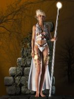 The White Elven Queen by Edheldil3D