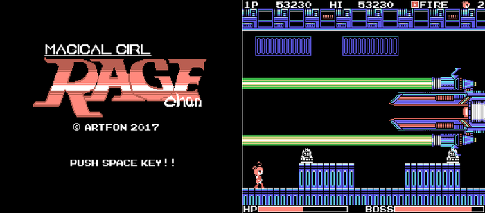 Rage-chan MSX Edition by artfonproduction