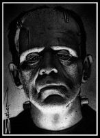 Frankenstein Sketch Card by RandySiplon