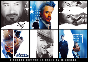 Robert Downey Jr icons by Miss-Chili