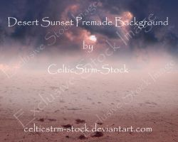Desert Sunset Premade Background by CelticStrm-Stock