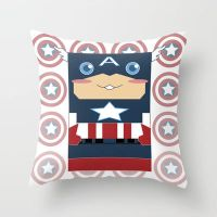 Captain America Throw Pillow / Cover by crystaland