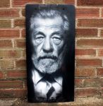 Sir Ian McKellen - Final version by snikstencilstuff