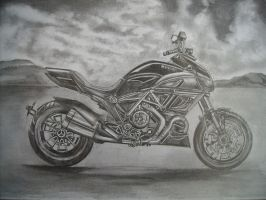 Motorbike Drawing 1 by i77310