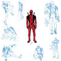 Deadpool sketch dump by MartaFerreira