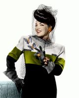 Carmen Miranda Colorized by ajax1946