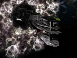 Argus Exiting Hyperspace by connorz16