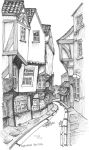 The Shambles in York 2 by Artwyrd