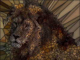 { Stain Glass Window } Lion by nightstrikers