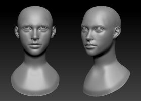 ::Learning ZBrush:: Female WIP 1 by mckadesinsanity
