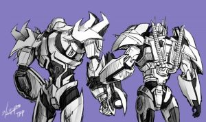 TFP Optimus , Megatron -2 by GoddessMechanic