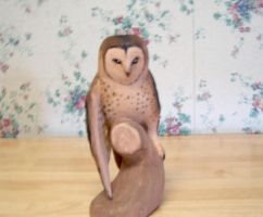 Owl carving front by turnipBerry