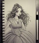 New dress for Belle by natalico