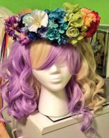 Pride Flower Crown *FOR SALE* by princess-haru44