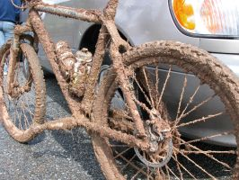 Angel's Camp Muddy Bike by nickrak