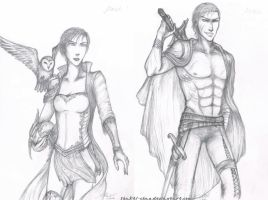 Gods of War - Athena and Ares by Shakti-chan