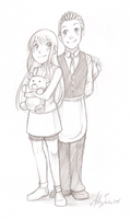 Comm. - Eve and Cilan by sketchyheart