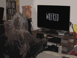 Cosplay Watching-Wilfred watching Wilfred by badger4r