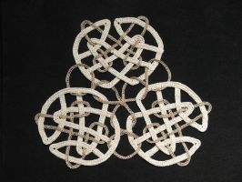 Celtic Knot - Three knot circle by White-Hand