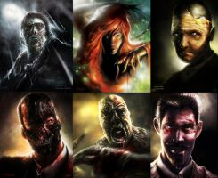 BATMAN ART: Arkham Portraits by lukemandieart