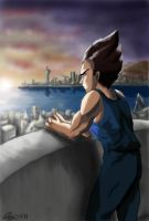 Vegeta - Photoshop First by The-Ebony-Phoenix