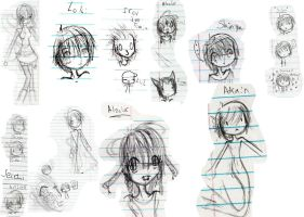School Doodle Collage by Sinner23