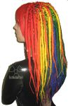 Rainbow Synthetic Dreads by Nuclear-Doll
