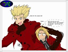 Ed and Vash sketch colored by katiebobbaseball11