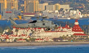 H-60 Flying By Del Coronado by Grouper