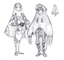 Yeto and Yeta Ponchos by DemonRoad